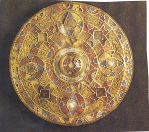 A piece of Anglo-Saxon ornamentation. Image from http://research.uvu.edu/mcdonald/Anglo-Saxon/Art.html.