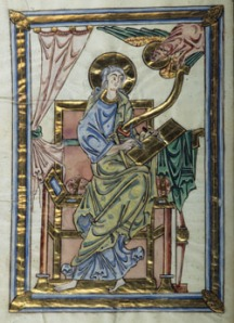 An example of an image touched with gold leaf from an illuminated manuscript. Image from http://ica.princeton.edu/conferences/2010march16-17.php.