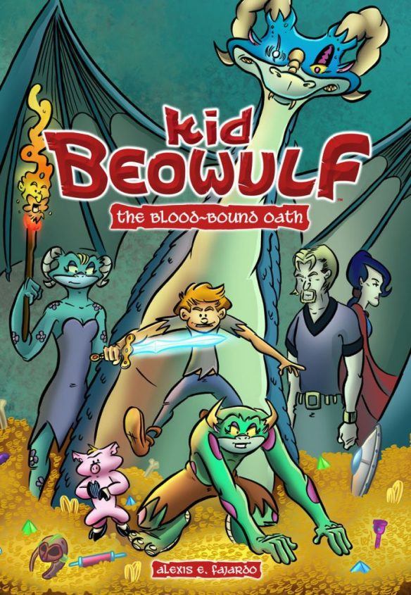 The title page of the first book of Alexis Fajardo's Kid Beowulf graphic novel series.