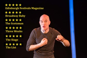 Bryan Burroughs in Beowulf: The Blockbuster, a one man show pop culture-infused retelling of the epic.