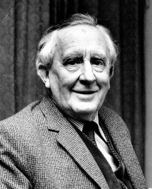 A portrait of J.R.R. Tolkien, avid Beowulf enthusiast.