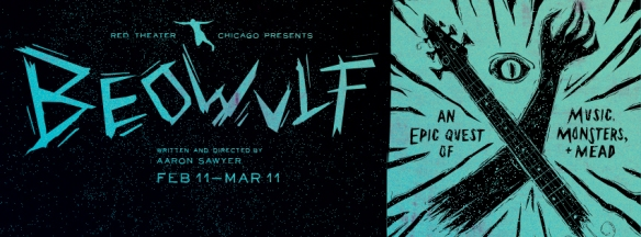 The promotional image for Aaron Sawyer's Beowulf stage show.