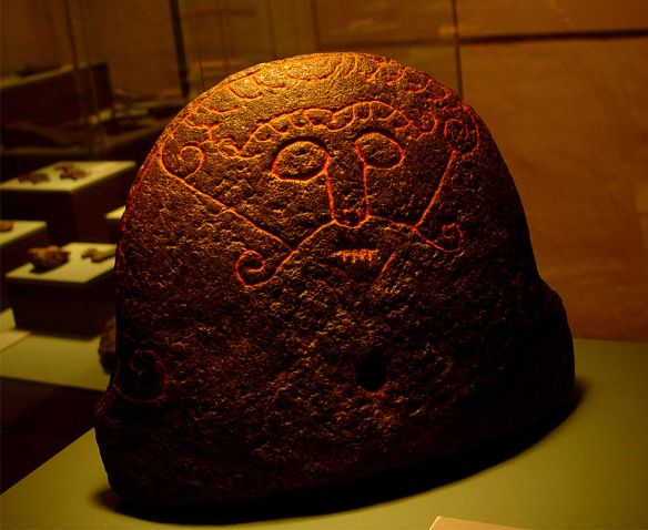 The Snaptun Stone, a stone carved with a face that could be the god Loki.