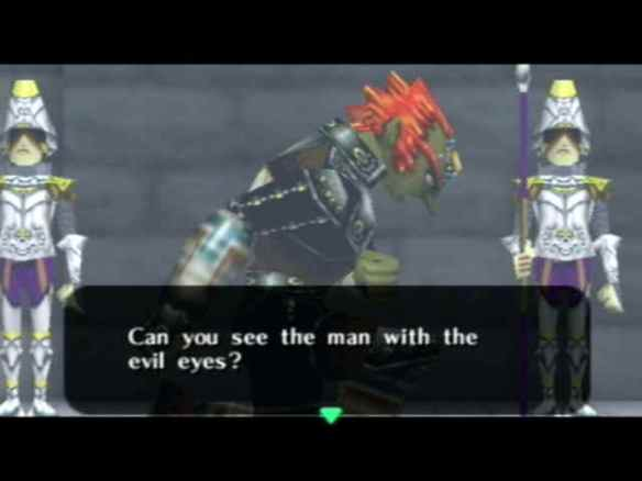 Ganondorf kneeling before the king of Hyrule, maybe Beowulf did the same?